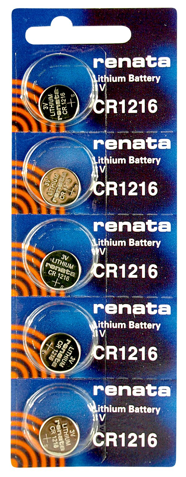 Renata CR1216 Low Drain 3v Silver Lithium Multi Drain Watch Battery - Tear Strip of 5