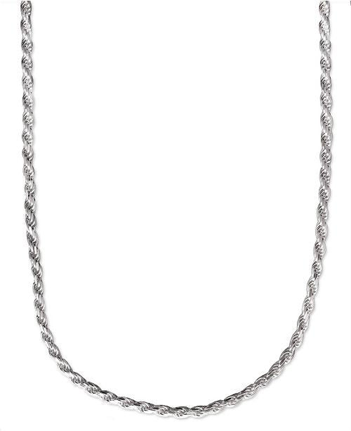 Sterling Silver Rope Chains, 1-4mm, 16-30""