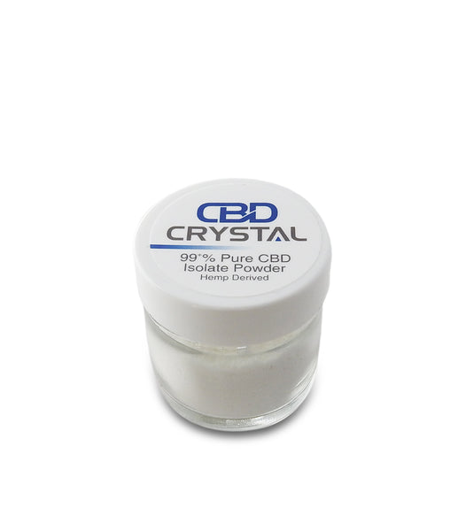 "10 Grams (10,000 milligrams) of 99+% CBD Crystal™ Isolate ""Powder"" - CBD Crystal"