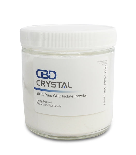 "200 Grams (200,000 milligrams) of 99+% CBD Crystal™ Isolate ""Powder"" - CBD Crystal"