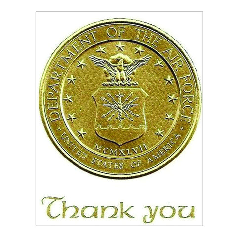 Air Force Gold Embossed Thank You Cards