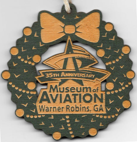 Museum of Aviation Wooden Ornament