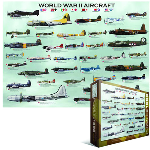 Jigsaw Puzzle: World War II Aircraft