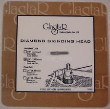 Diamond Grinder Bit for Glastar Stained Glass Grinders 1/8 Inch Standard 100 Grit Grinding Head
