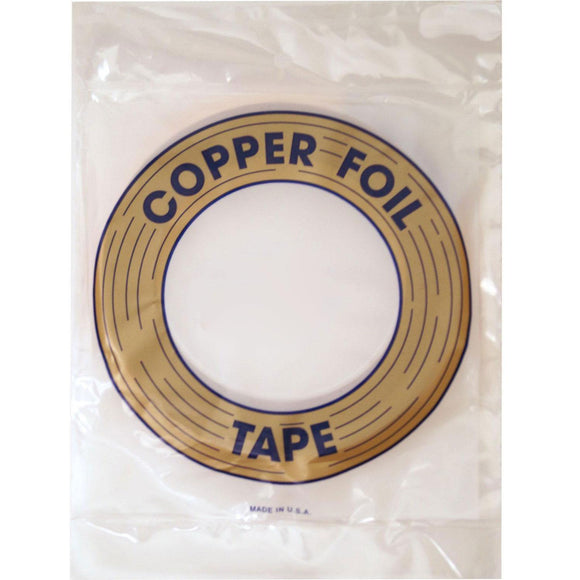 Black Backed Copper Foil Tape 1/4 inch 1 mil EDCO