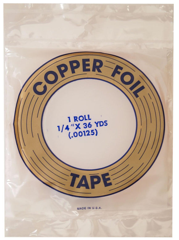 Copper Foil Tape 1/4 inch 1.25 mil EDCO