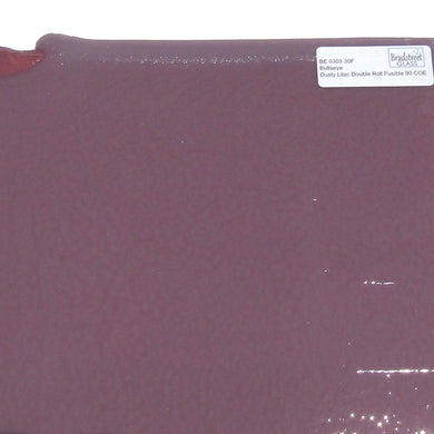 Dusty Lilac Double Rolled Fusible 90 COE Bullseye Stained Glass Sheet BE 0303 30F