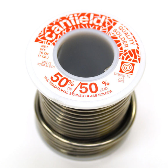 Canfield 50/50 Lead Solder for Stained Glass 1 lb Roll
