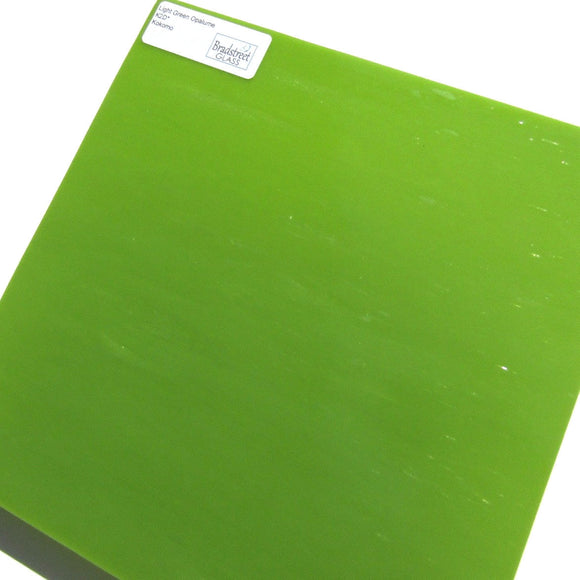 Kokomo K2D Stained Glass Sheet Opaque Light Green Opalume