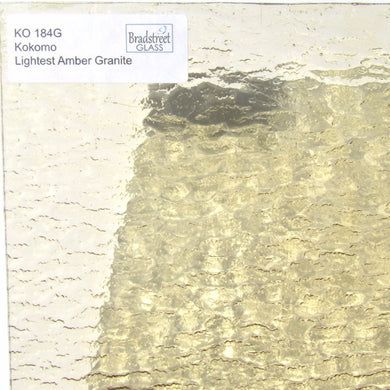 Kokomo Lightest Amber Granite Transparent Cathedral Stained Glass Sheet KO 184 G