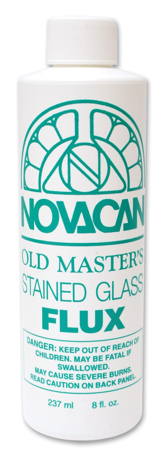 8 oz bottle Novacan Old Masters Flux for Soldering Stained Glass