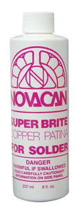 Novacan Super Brite Copper Patina for Solder 8 oz Bottle