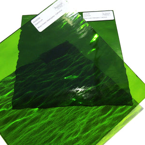Spectrum Moss Green Waterglass Translucent Cathedral Stained Glass Sheet S5262W