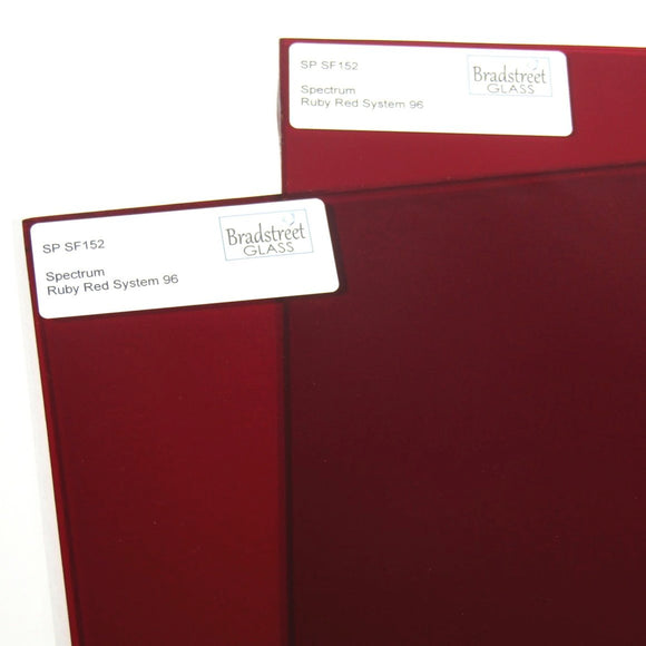Ruby Red Cathedral Fusible Stained Glass Sheet System 96 COE Translucent Spectrum SF152