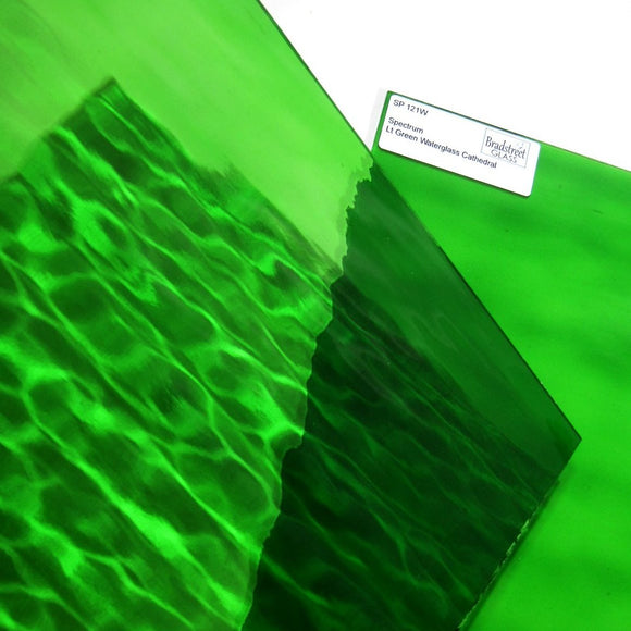 Light Green Waterglass Stained Glass Sheet Cathedral Spectrum 121W