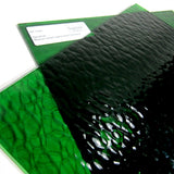 Medium Green Hammered Cathedral Stained Glass Sheet Spectrum 123H