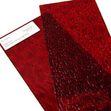 Spectrum Ruby Red Granite Cathedral Textured Translucent Stained Glass Sample Size SP 152G