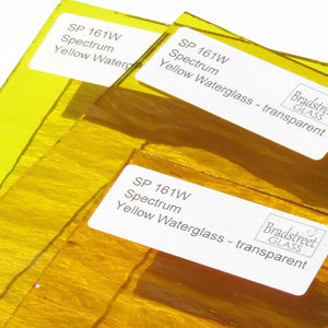 Spectrum Yellow Waterglass Stained Glass Sheet Translucent Cathedral SP 161W
