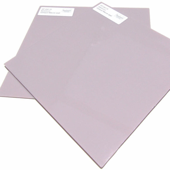 Spectrum Opaque Mauve Opal System 96 Stained Glass Sheet 96 COE SF 240.72