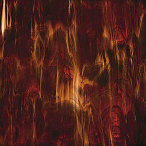 Dark Amber and White Wispy Stained Glass Sheet Spectrum SP 317.6
