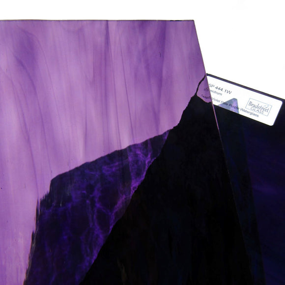 Deep Violet Pale Purple Waterglass Stained Glass Sheet Spectrum 444.1W