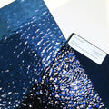 Steel Blue Rough Rolled Stained Glass Sheet Spectrum 538.4RR