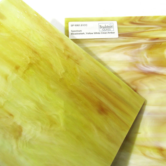 Spectrum 6061.81CC Stained Glass Sheet Opaque Ripple Textured Pearl Opal: Yellow, White, Clear, Amber