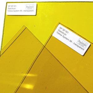 Fusible Yellow Stained Glass Sheet Transparent 96 COE Translucent Spectrum System 96 SF161