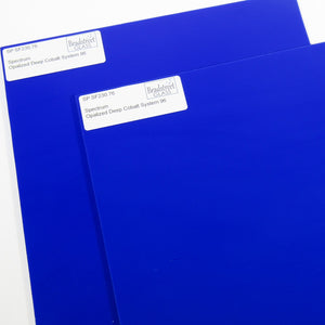 Opalized Deep Cobalt Stained Glass Sheet 96 COE Opaque Fusible Spectrum SF230.76