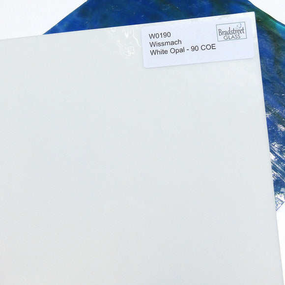 Wissmach White Opal 90 COE Opaque Fusible Stained Glass W0190
