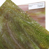 Medium Purple Yellow Green Wisspy Opal Granite Wissmach WO217 G Stained Glass Sheet