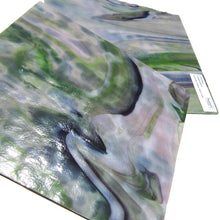 Youghiogheny Y3344RG Stained Glass Sheet, Lavender Green Dark Purple Mottled Opaque Reproduction Glass