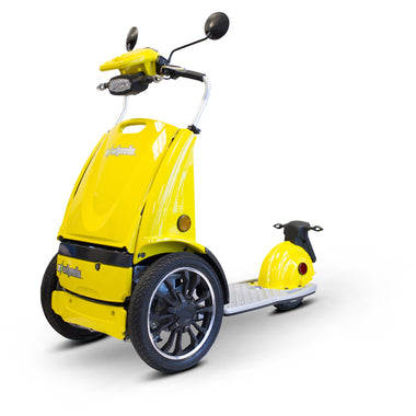 E Wheels EW-77 EDGE Sit Stand Foldable Scooter-Scooter-E Wheels-Yellow-Adept Mobility