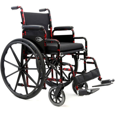 Karman Healthcare LT 770Q Red Streak Light Wheelchair-Manual Wheelchair-Karman Healthcare-Adept Mobility