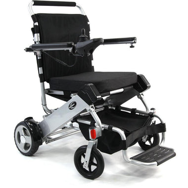 Karman Healthcare Tranzit Go Foldable PW F500 Power Wheelchair-Power Wheelchair-Karman Healthcare-Silver-Adept Mobility