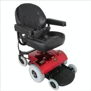 Zip'r PC Power Wheelchair-Power Wheelchair-Zip'r Mobility-Red-Adept Mobility