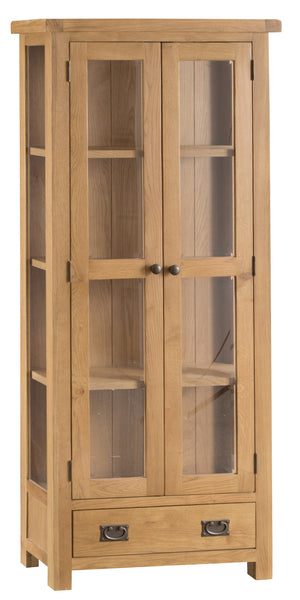 Oakham Display Cabinet with Glass Doors - Every House Furniture