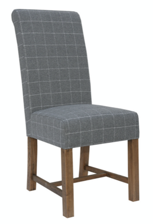 Check 100% Wool Chair - SOLD IN PAIRS