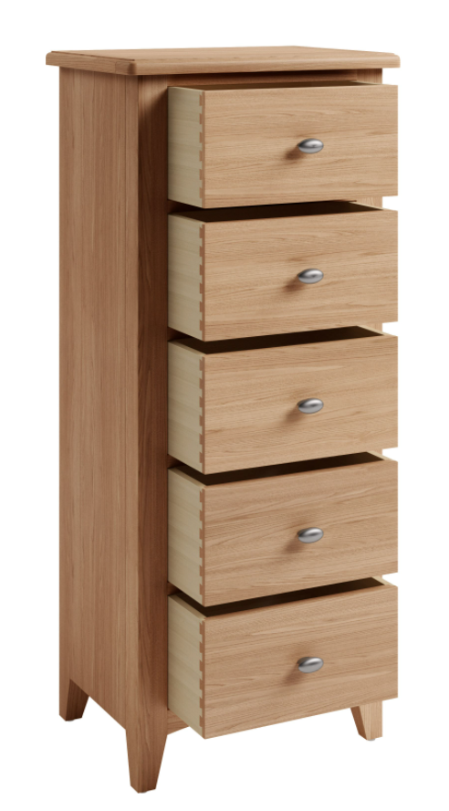 Greenwich 5 Drawer Narrow Chest of Drawers