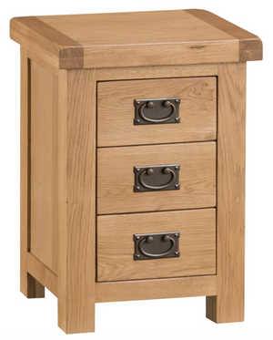 Country Oakham 3 Drawer Bedside