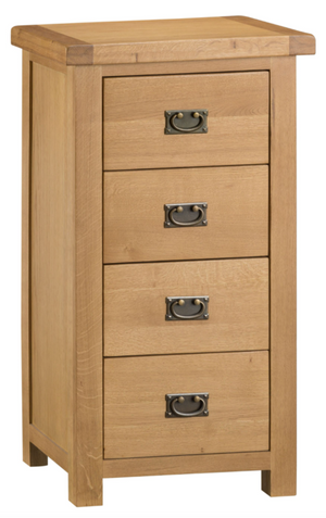 Country Oakham 4 Drawer Narrow Chest