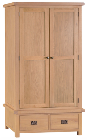 Country Oakham 2 Door 2 Drawer Wardrobe