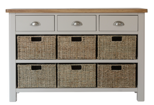 Radford 3 Drawer 6 Basket Unit