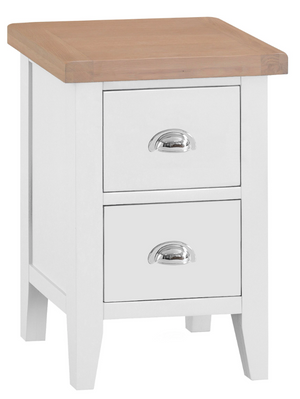 Thames White Bedside Cabinet - Choice of sizes