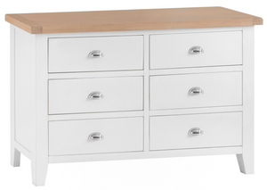 Thames White 6 Drawer Chest