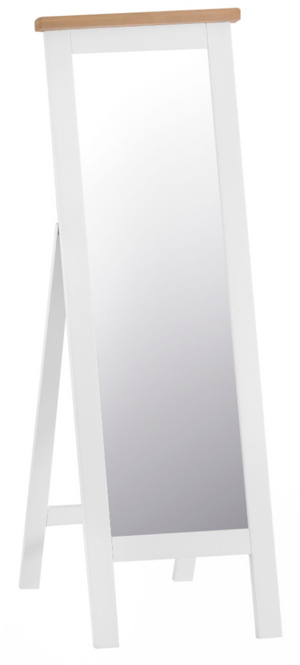 Thames White Cheval Mirror