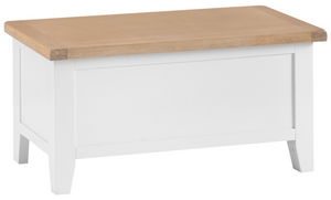 Thames White Blanket Box
