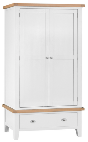 Thames White Large 2 Door Wardrobe