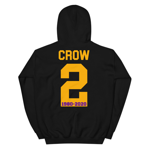 Angel Crow with 2 on Back Unisex Hoodie