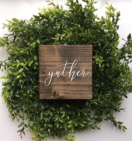 Mini gather sign